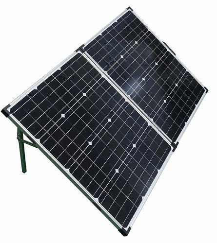 HIDISC 100W ソーラーパネルチャージャー 折りたたみ式 自立スタンド付 SPLD660500