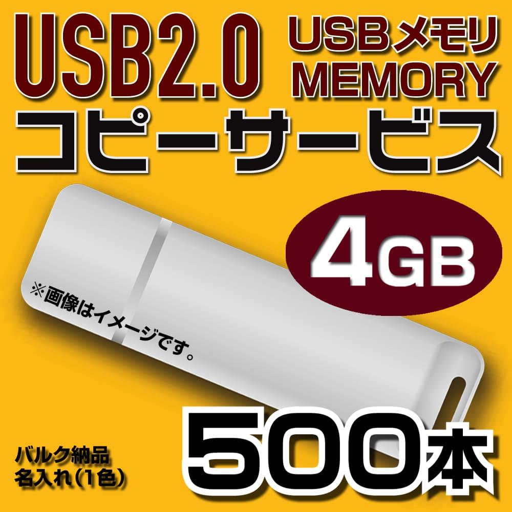 USB4GB コピーサービス バルク納品 名入れ(一色) 500本