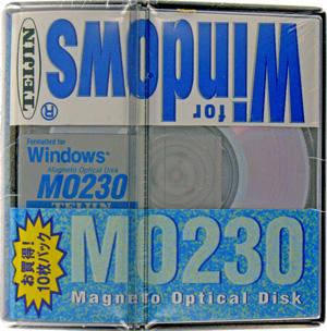 【生産終了品・在庫限り!】TEIJIN 3.5インチ MOディスク (光磁気ディスク) 230MB 10枚パック Windows/DOSフォーマット済 TMO-230W10P