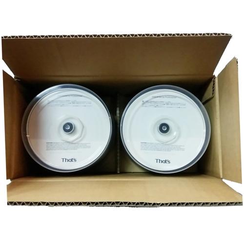 【100枚まとめ買い☆送料無料】That's 「THE 日本製」 太陽誘電 DVD-R データ用 4.7GB 16倍速対応 50枚×2個 スピンドルケース ウォーターシールド ホワイトワイドタイプ インクジェット対応 DVR47WS100