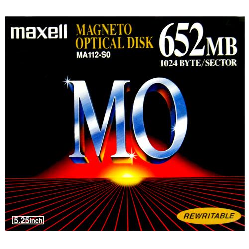 【生産終了品・在庫限り☆激レア商品】マクセル 5.25インチ MOディスク 652MB 1枚 アンフォーマット Maxell MA112-S0