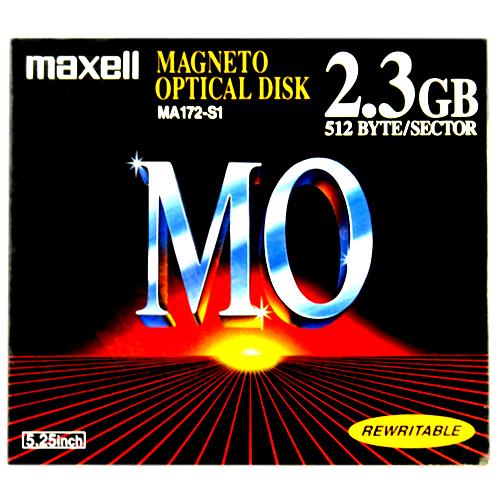 【生産終了品・在庫限り】マクセル 5.25インチ MOディスク 2.3GB 1枚 アンフォーマット Maxell MA172-S1
