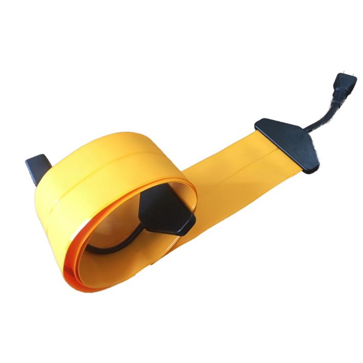 【8M|オレンジ×ブラック/橙黒/OrangexBlack】Flat Cord -フラットコード-