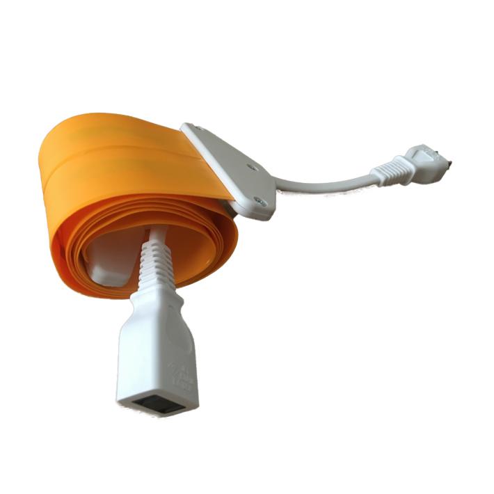 【4M|オレンジ×ホワイト/橙白/OrangexWhite】Flat Cord -フラットコード-