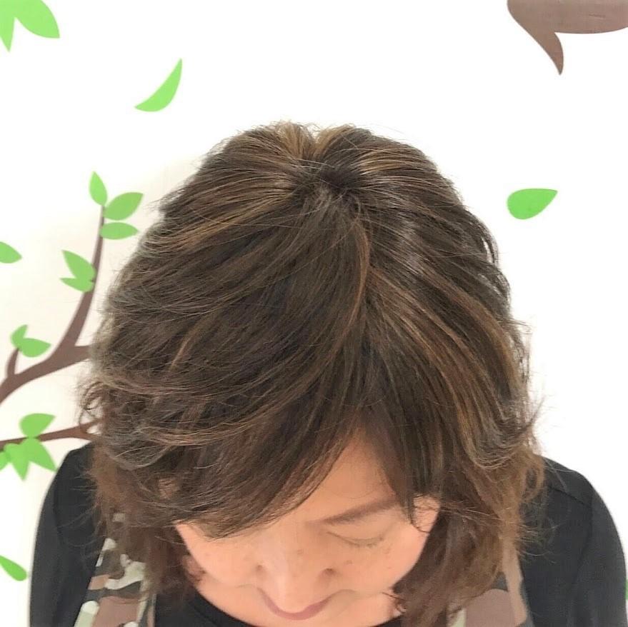 人毛100%☆頭頂部カバーウィッグ【スモール】