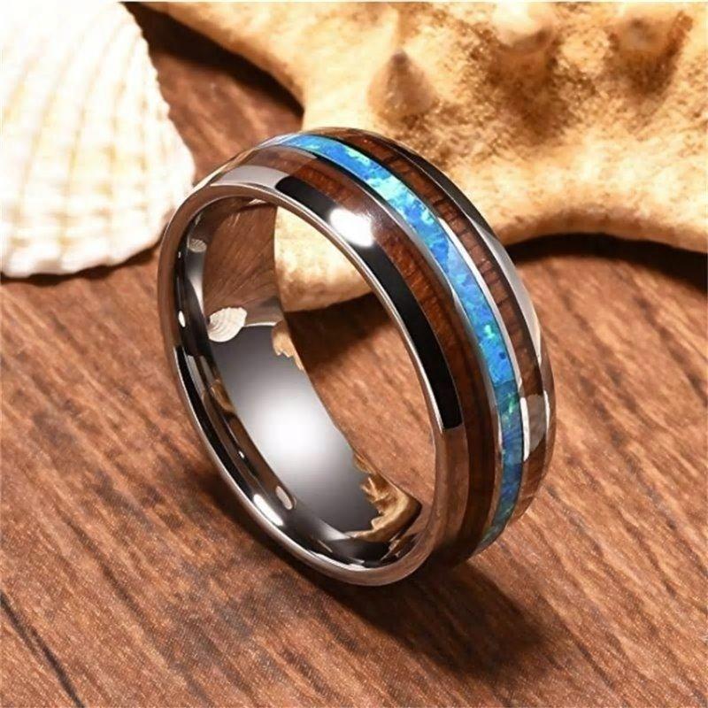 レディース ハワイアン 送料無料 ハワイアンジュエリー 指輪 コアウッド リング 天然ウッド使用 結婚指輪 公式ストア ギフト ホワイトデー 誕生日 ステンレススチール 人気の定番 贈り物 ハンドポリッシュド
