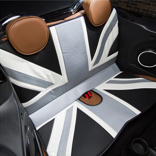 BMW MINI(ミニ)L字シート【ユニオンジャック】(カーボン)【CABANA】