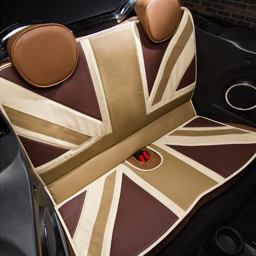 BMW MINI(ミニ)L字シート【ユニオンジャック】(セピアブラウン)【CABANA】