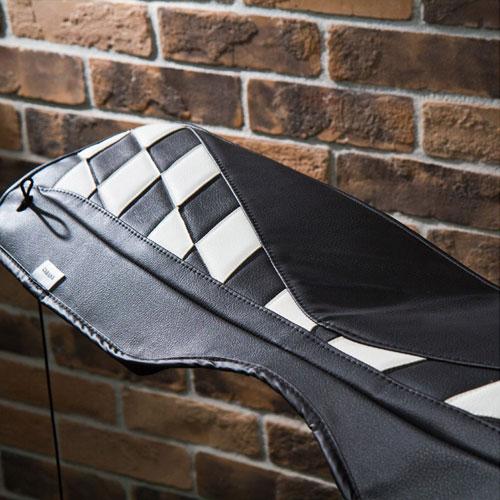 BMW MINI(ミニ)R50/R53/R55/R56/R60/F56/F55/F60 トノカバー(チェッカー白黒)【CABANA】