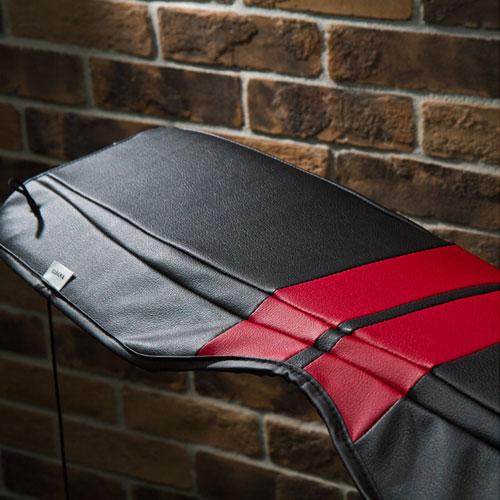 BMW MINI(ミニ)R50/R53/R55/R56/R60/F56/F55/F60トノカバー ストライプ(ブラック/ルースターレッドストライプ)【CABANA】