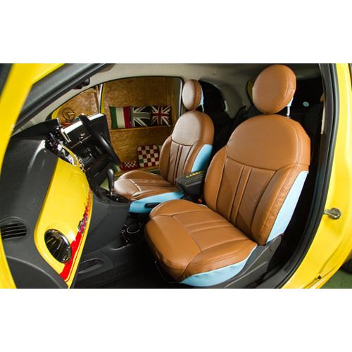 CABANA FIAT 500 シートカバー(エレガンテ本革パンチング)