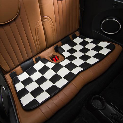 BMW MINI(ミニ)ロングシート【チェッカー】(ホワイト×ブラック)【CABANA】