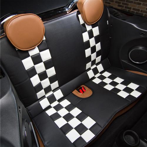 BMW MINI(ミニ)L字シート【チェッカー】(ブラック×ホワイト)【CABANA】
