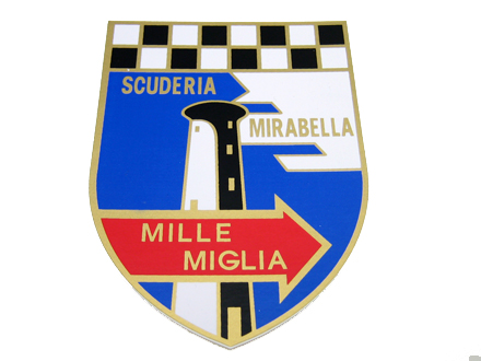 いよいよ人気ブランド NEW売り切れる前に☆ MILLE MIGLIA SCUDERIA MIRABELLA ステッカー