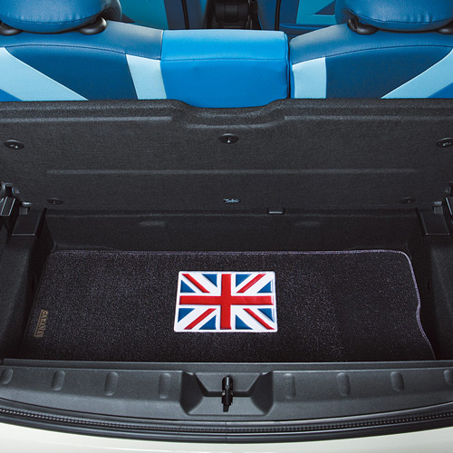 BMW MINI(ミニ)F55/F56トランクマット ユニオンジャック フルカラー/ブラックベース【CABANA】