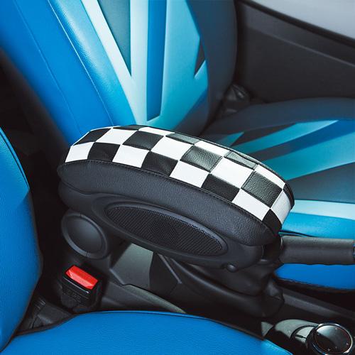 BMW MINI 代引き不可 F55 F56 春の新作 ミニ チェッカー白黒 CABANA F56センターアームレストカバー