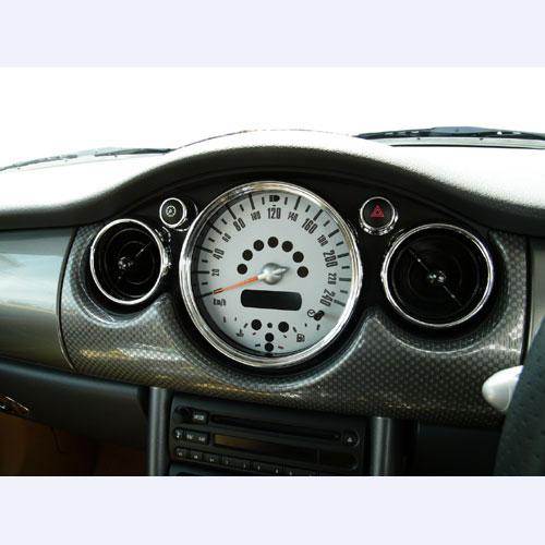 BMW MINI(ミニ)R50・R52・R53用 センターメータークロームリングセット