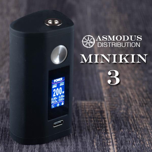 ASMODUS Minikin V3 MOD アスモダス ミニキン 電子タバコ vape テクニカル BOX MOD デュアルバッテリー 18650 タッチスクリーン Minikin3