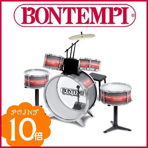 BONTEMPI(ボンテンピ) [メタリックシルバードラムセット 6pcs] ドラム おもちゃ 楽器 bontempi ボンテンピ