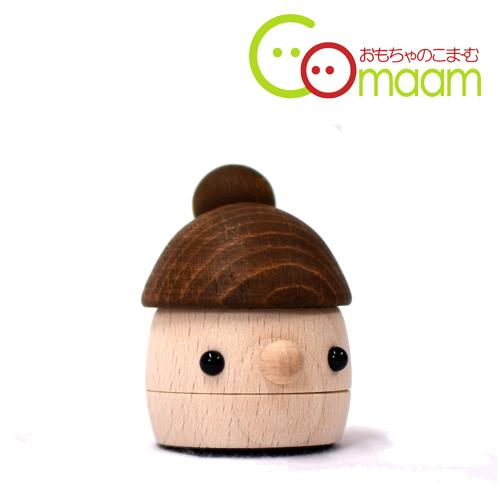 日本の職人さんが一つ一つ丁寧に手作りしています スピード対応 人気ブランド 全国送料無料 手作りの木のおもちゃ こまむぐ どんぐりまま 木のおもちゃ おもちゃのこまーむ 日本製 木製玩具 どんぐりころころ