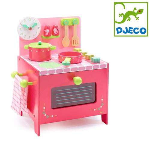 正規品 DJECO(ジェコ) [リリローズ クッカー] おままごと 木製 おもちゃ キッチン キッチンセット