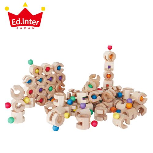 正規品 エド・インター GENI [Connectable Chain Cobit -Volume Set-] 積み木 ブロック 知育玩具 木製玩具 木のおもちゃ 3歳 コビット