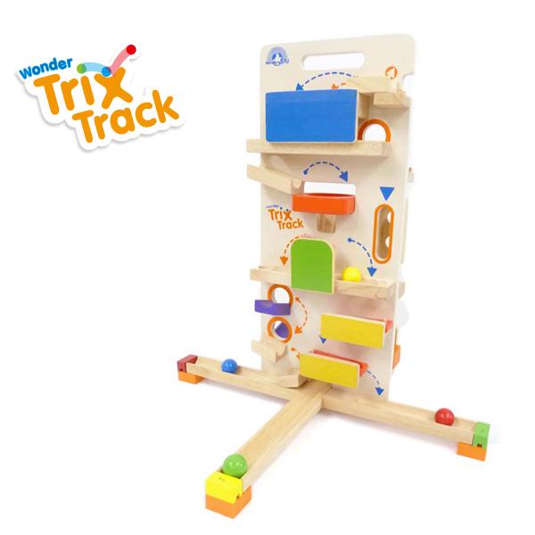 木のおもちゃ ボール転がし wonderworld(ワンダーワールド) TrixTrack [タワーラウンチャー] 木のおもちゃ 木製玩具 おもちゃ パズル
