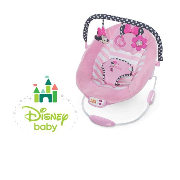 正規品 ディズニーベビー [ミニーマウス・ブラッシングボーズ・バウンサー] Disney baby バウンサー