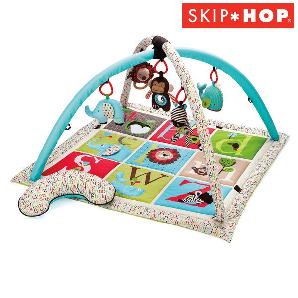 正規品 [送料無料]SKIP HOP(スキップホップ) [アルファベットズー・アクティビティジム] ベビージム プレイマット マット ジム