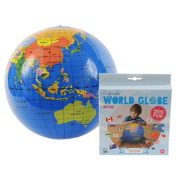 大規模セール 地球儀のビーチボール 正規品 Tiger Tribe ビーチボール地球儀 期間限定お試し価格 タイガートライブ 30cm