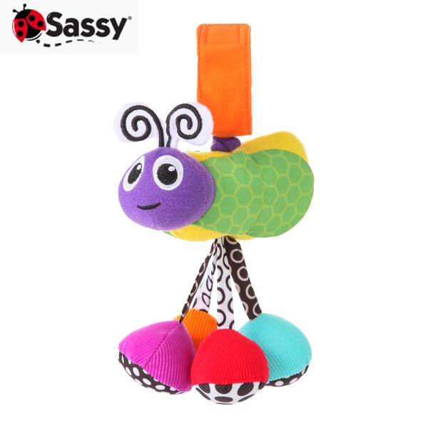 ベビーカーなどをにぎやかにします 正規品 Sassy サッシー ぶるぶるバグ ジッター パープル 玩具 バグ おもちゃ 人気 ラトル 国内在庫 あす楽対応
