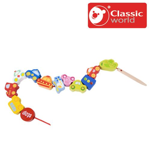 車のひも通しです 正規品 毎日続々入荷 Classic クラシック トラフィック ビーズ あす楽対応 木のおもちゃ ひも通し 赤ちゃん 知育玩具 ひもとおし 25%OFF 木製玩具