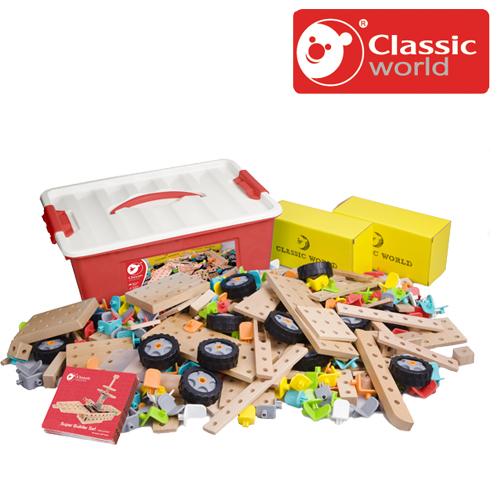 正規品 Classic(クラシック) [スーパー ビルダーセット 500ピース] [あす楽対応] 木製玩具 知育玩具 木のおもちゃ 3歳