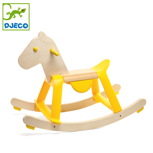 正規品 DJECO(ジェコ) [イエロー ロック イット] [あす楽対応] 木馬 ロッキングホース 乗用玩具