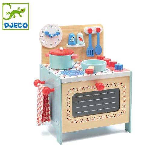 正規品 DJECO(ジェコ) [ブルークッカー] [あす楽対応] おままごと キッチン おもちゃ 木製