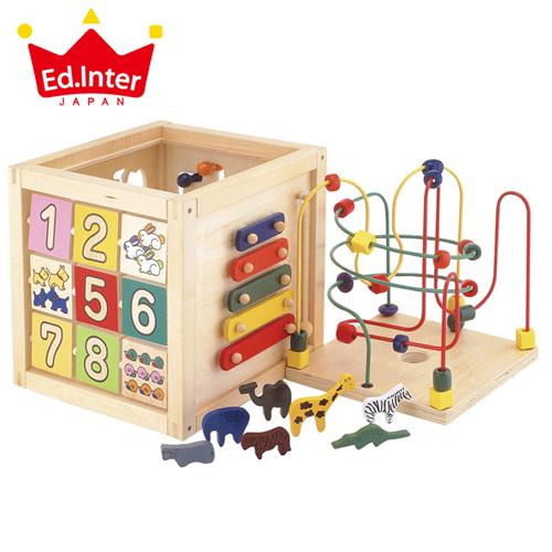 正規品 エドインター [森のあそび箱] [あす楽対応] 木のおもちゃ 木製玩具 木琴 ビーズコースター