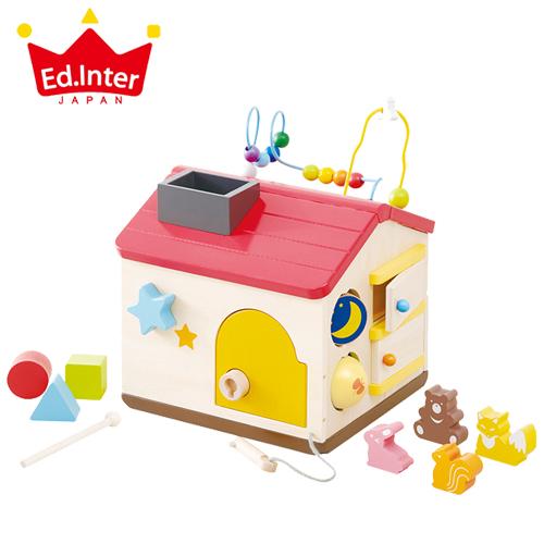 10種のあそびが詰まった木のおもちゃ 正規品 エドインター [ようこそ!森のわくわくハウス] [あす楽対応] 木製玩具 知育玩具