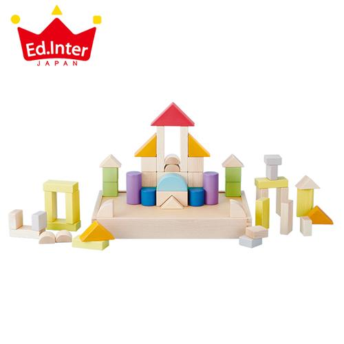 正規品 エド・インター GENI My First Blocks Tsumin -Color- [あす楽対応] 積み木 ブロック 知育玩具 木製玩具 木のおもちゃ 1歳 エドインター