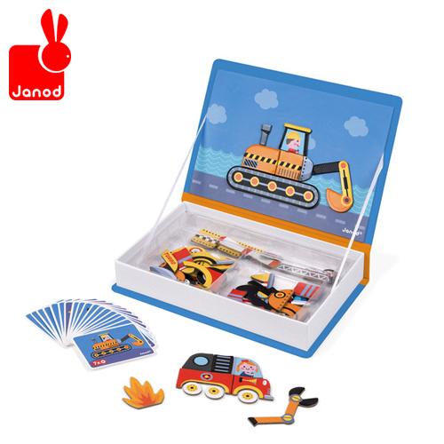 マグネットの本なので繰り返し遊べます 正規品 Janod 激安セール ジャノー マグネット ブック 磁石 絵本 あす楽対応 期間限定 マグネットブック ビークル おもちゃ