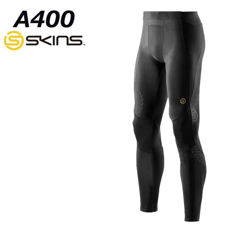スキンズ skins a400 メンズロングタイツ 【正規品】 (BKST)/ブラックxスターライト K32208145D コンプレッション インナー