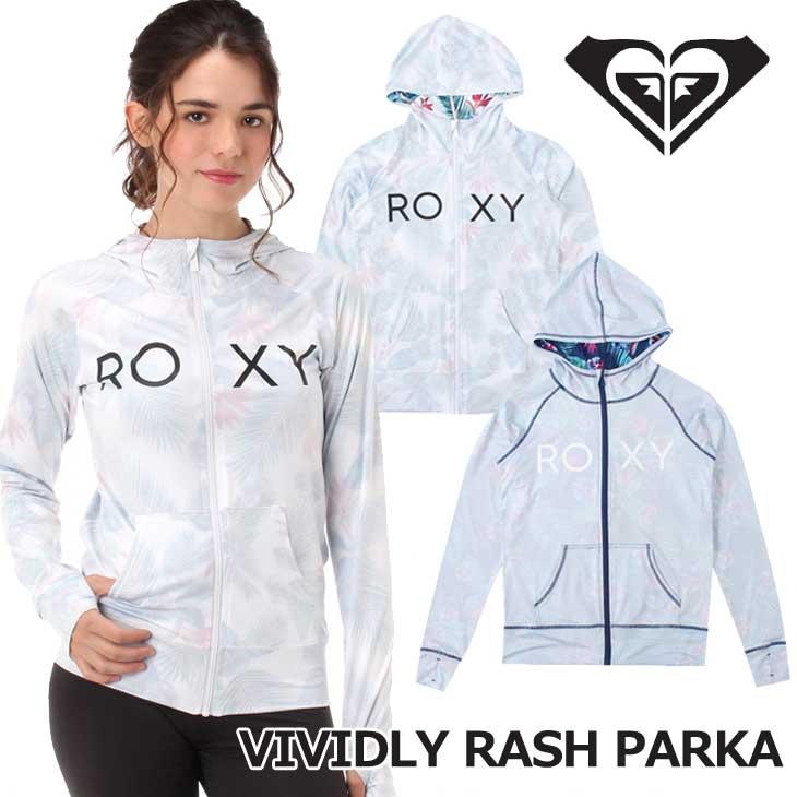ROXY ロキシー ラッシュガード 長袖 VIVIDLY RASH PARKA (RLY182033) レディース 2018春夏