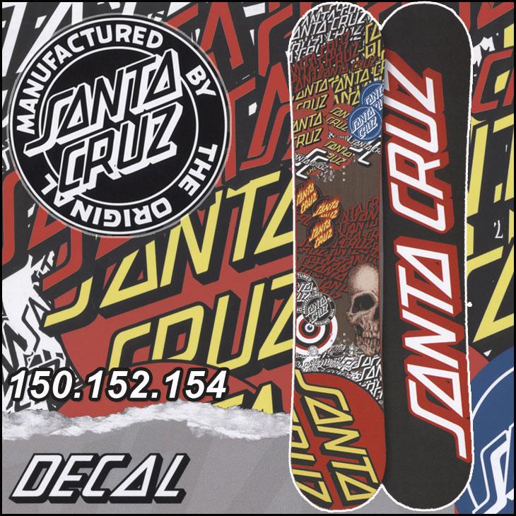 17-18 SANTACRUZ ( サンタクルーズ )【DECAL 】 デカール スノーボード 板 snow board 入荷済み ship1