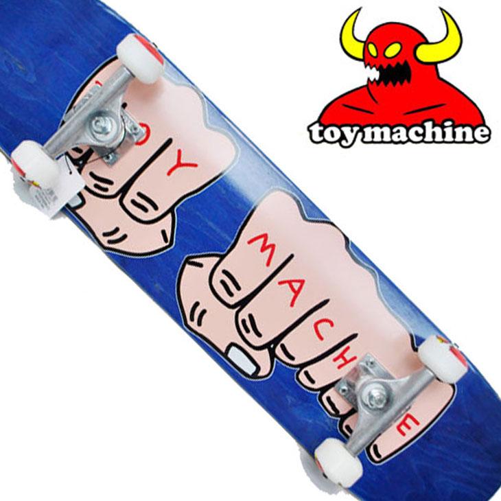 スケートボード コンプリート TOY MACHINE トイマシーン FISTS 青 7.75 完成品スケボー SKATE COMPLETE
