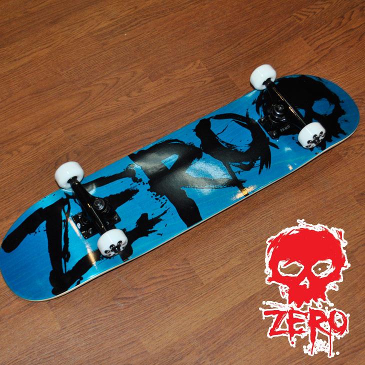 スケートボード コンプリート ZERO ゼロ BLOOD BLUE/BLACK 7.875 ブラッド 完成品 ship1
