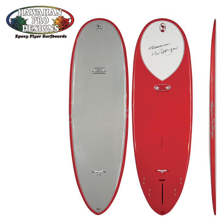 ロングボード ドナルドタカヤマ Hawaiian Pro Designs HPD 【EPOXY FLYER/エポキシ サーフボード 】【SCOPION スコーピオン 】 サイズ【5-10/RED】日本正規品●代引き不可