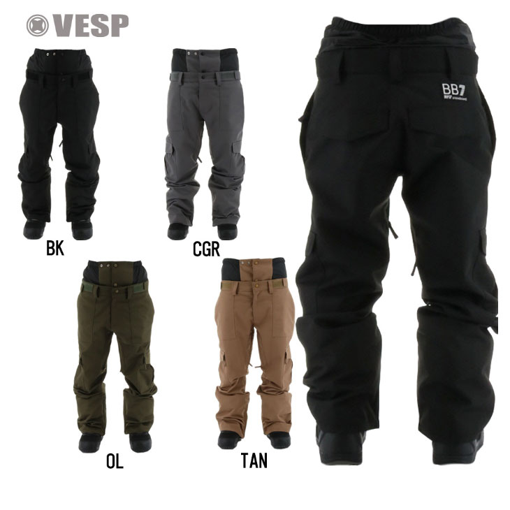 VESP ベスプ メーカー直売 ウエアー 21-22 BB7 CARGO 11月入荷予定 VPMP1021 100%品質保証 パンツ ship1 予約販売品 PANTS