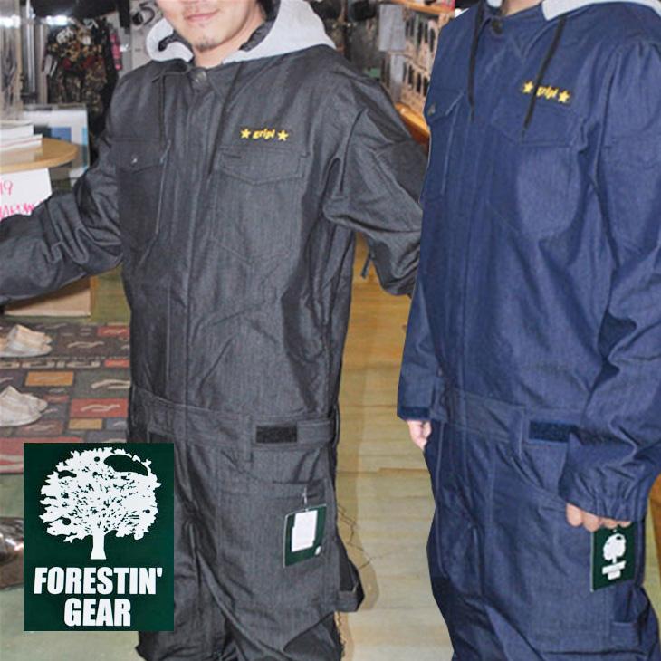 FORESTIN GEAR フォレスティン ギア メンズ 16-17モデル【FGRO16-01 】 つなぎ ワンピース デニムワークウエア スノーボード 【返品種別OUTLET】 ship1