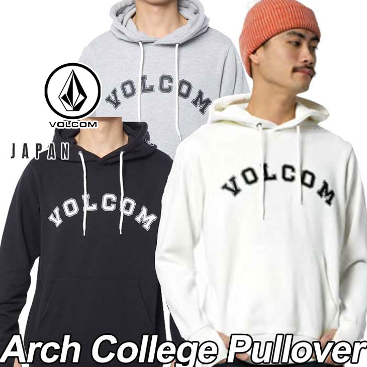 volcom Japan Limited ボルコム パーカー メンズ プルオーバー 【Arch College Pullover 】 長袖 フリース フードVOLCOM 【返品種別OUTLET】