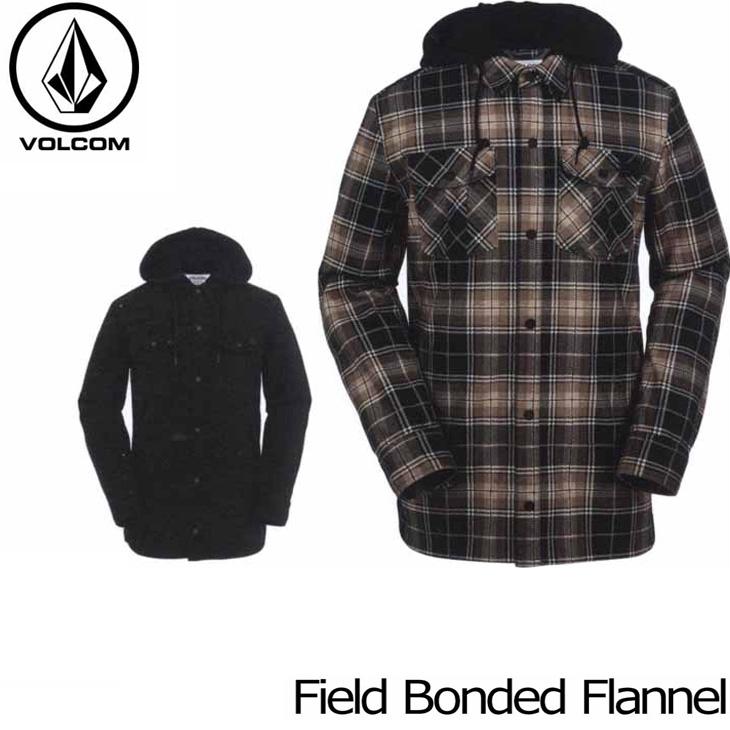 VOLCOM ボルコム フランネルジャケット 16-17 HR&S フード付きシャツジャケット 【Field Bonded Flannel 】 日本正規品 【返品種別OUTLET】