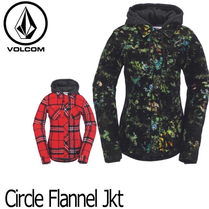 VOLCOM ボルコム レディース 【16-17 モデル】 ジャケット スノーボード 【 Circle Flannel Jkt 】 日本正規品 【返品種別OUTLET】